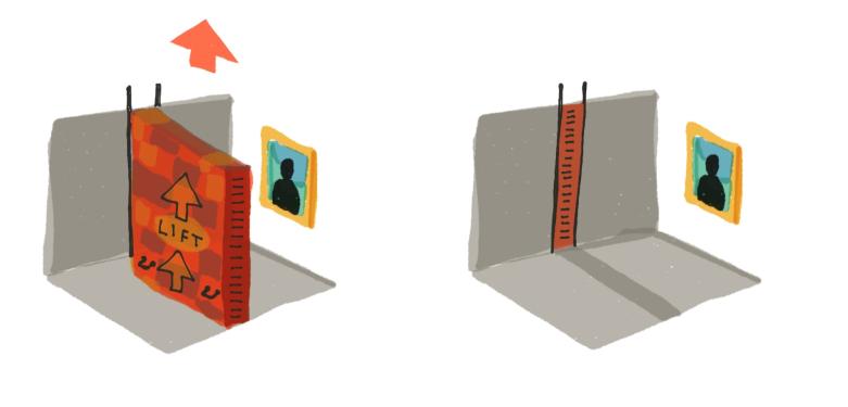 art-lift-brick-wall
