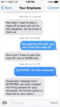 AUTOFIRE fire employee 1