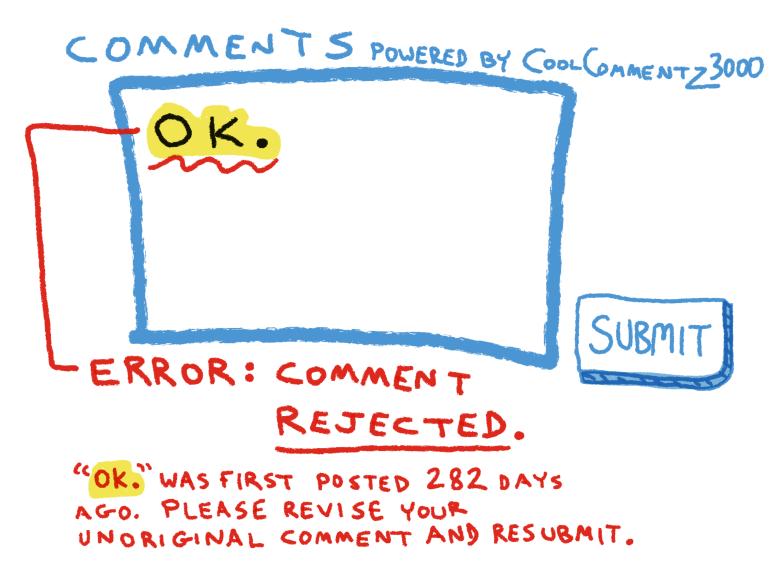 internet-message-board-only-unique-comments